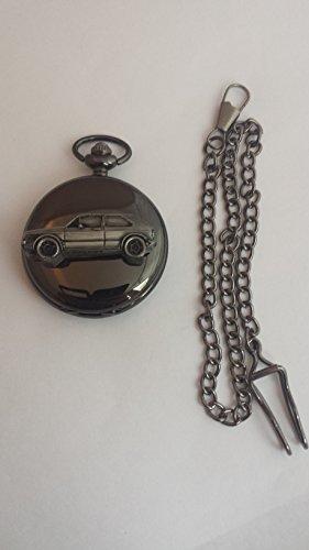VW Golf GTI MK1ref299Zinn Effekt Emblem Silber Poliert Fall Herren Geschenk Quarz Taschenuhr hergestellt in Sheffield
