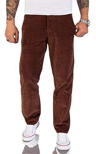 Rock Creek Herren Cord Hose Regular Fit Chino Hose Klassische Hosen Herrenhose Straight Cut Chinos Herren Cordhosen RC-2156 Ocker W32 L32