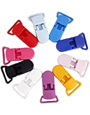 T Clips Resin Clips napphållare Badge Dummy Clips Crafting Supplies 39 x 16mm 10-pack blandade färger, hem säkerhet och sjukvårdsprodukter