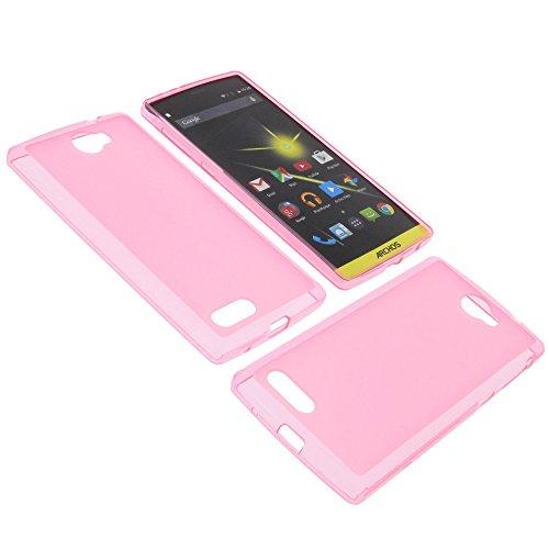 foto-kontor Tasche für Archos 50 Diamond Gummi TPU Schutz Hülle Handytasche pink