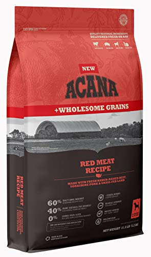 ACANA Red Meat + Wholesome Grains, 11.5lb (DAC3421-11.5) 5 Star Dog Food