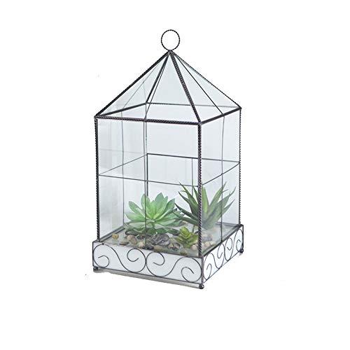 YAzNdom Geometrische Terrarium Succulente Plant Bloemen Orchidee Bladeren Metaal Geometrisch Glas Hangende Kristallen Bal