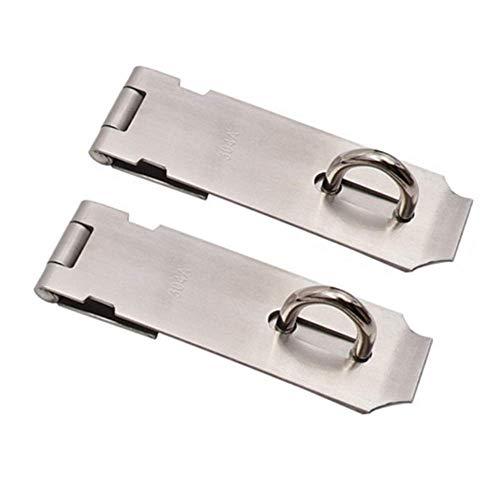 Türschlösser Schnalle, Vorhängeschlösser Verschluss-Kit für Holzschuppen Tür/Tor/Schrank Sicherheit, Heavy Duty 304A Edelstahl (2er Pack)