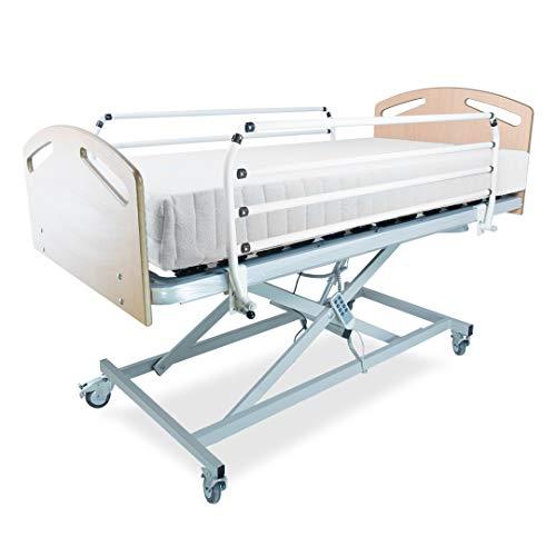 LTDM Cama Articulada Eléctrica con Carro Elevador   Elegida Cama Hospitalaria 2021   Colchón y Envío Incluido (105x190 colchón 24cm)