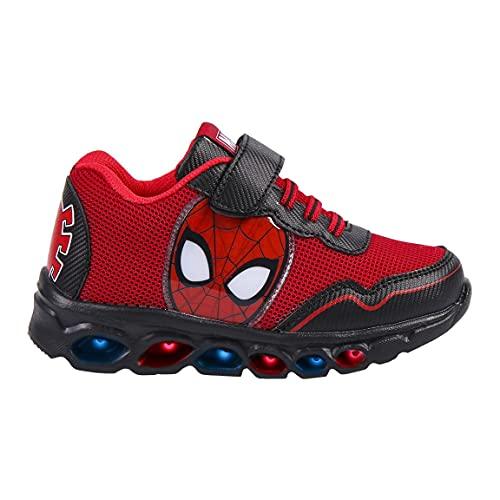 CERDA Deportivo Casual de Luces Spiderman CER 2300004994 Rojo - 30, Rojo