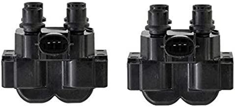 IRONTEK Ignition Coil Pack of 2 Compatible with 89-01 for Ford Ranger; 90-03 for Ford Escort; 91-93 for Ford Mustang; 91-97 for Lincoln Town Car 92-97 for Ford Crown Victoria REPLACES REF# DG530
