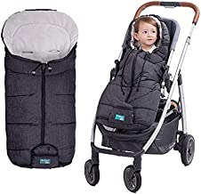 Yobee Cozy Warm Baby Universal Footmuff fit Most Strollers Pushchairs Prams, Weatherproof, Anti-Slip, Soft Fleece Lining Stroller Bunting Bag, Toddler Size, Hemp Gray