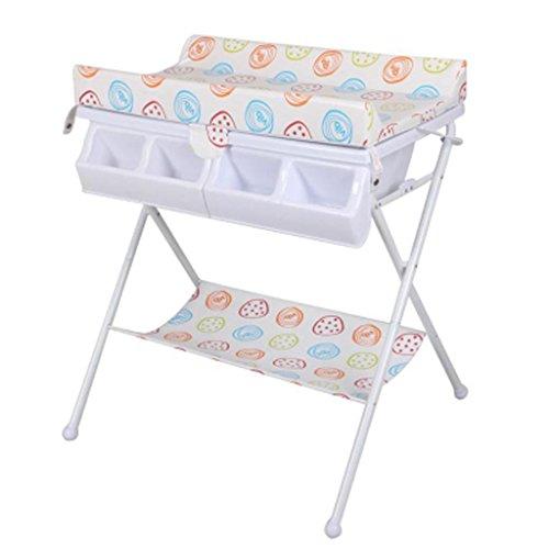 DELLT@ Multifunzione Carrozzina neonato, tavolo per pannolini, stazione di balneazione, Touch Table, lettino da massaggio, fasciatoio, portata 50 Kg