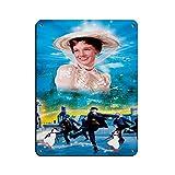 Póster clásico de la película Mary Poppins 13 en lienzo para decoración de la pared, para sala de estar, dormitorio, decoración de estilo blanco, 30 x 40 cm