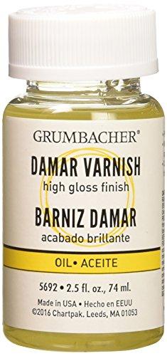 Grumbacher Verniz final Damar para pinturas a óleo, frasco de 6 ml, #5692