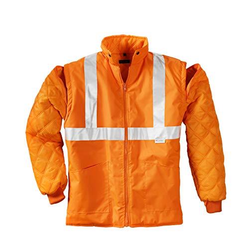 teXXor Warnschutz-Parka Calgary wasserdichte, winddichte Arbeitsjacke, M, orange, 4108