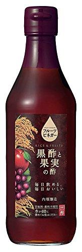 内堀醸造 フルーツビネガー 黒酢と果実の酢 瓶360ml [0076]