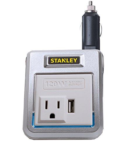 Stanley PI120PS 120W inversor de Potencia: 12V DC a 120V AC Salida de alimentación con Puerto USB