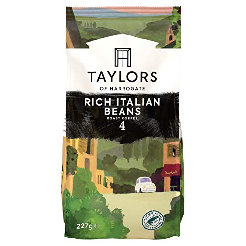 Taylors of Harrogate Rich Italian Coffee Beans, 227g (Pack of 6)