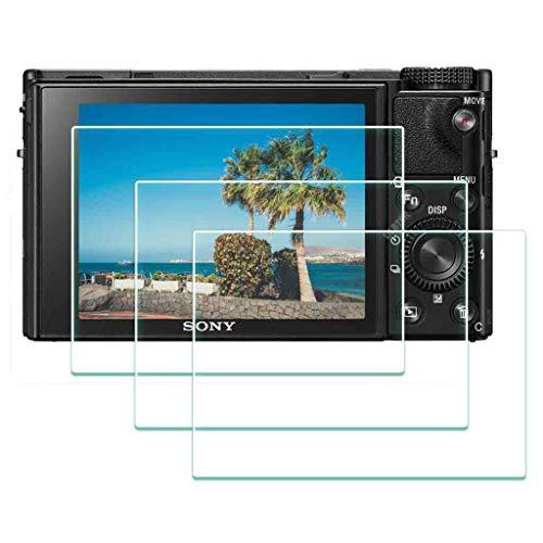 BTER DSC-RX100 Protector pantalla de cristal para Sony RX100 VI V IV III II I Compact, dureza 9H RX100VI RX100IV Protector de pantalla vidrio templado antiarañazos antihuellas antipolvo (3 unidades)