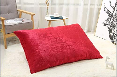 Comfy300 Luxury Medium & Extra Large Luxury Fur Dog Bed Cushion Washable Zipped Mattress (Red, Medium)