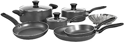 USA Star Nonstick Inside and Outside Dishwasher Safe Oven Safe Cookware Set, 10-piece