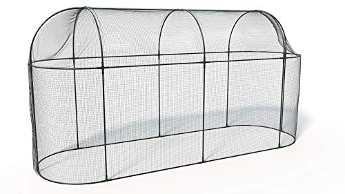 Photo of Haxnicks Frame040101 Steel Long Fruit Cage, Black, 300x100x150 cm