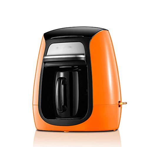 Kaffeemaschine Teefilter Amerika Stil automatische Innenministerium Elektroeinzel Ceramic Cup Schleifen bewegliche kleine Espressomaschine 300W,Orange