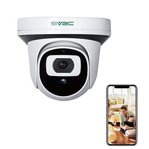 SV3C 1080P HD POE IP Kamera, CCTV Dome Überwachungskamera mit integriertem Micro SD Kartensteckplatz für Aussen, Innen, Überwachungskamera mit Nachtsicht und Audio