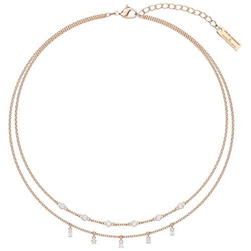 SWAROVSKI Crystal Authentic Limited Edition Penélope Cruz Moonsun - Collar doble chapado en oro rosa