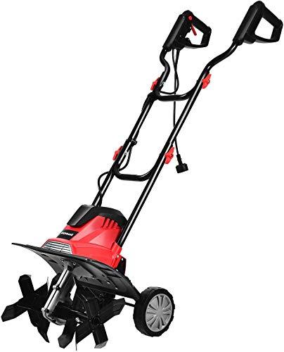 COSTWAY Motoazada Eléctrica Ancho de Trabajo de 35 cm /4 Cuchillas /1200W / Profundidad de Trabajo de 22cm / 365 RPM para Jardín