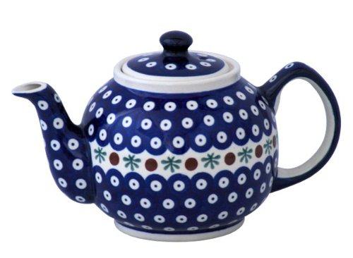 Original Bunzlauer Keramik Teekanne 1,00 Liter im Dekor 41