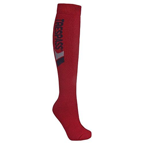Trespass Unisex Tech Ski-Socken mit Merinowolle (43-46 EU/9-12 UK) (Rot)