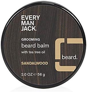 Every Man Jack Beard Balm - Sandalwood | 2-ounce - 1 Jar | Naturally Derived, Parabens-free, Pthalate-free, Dye-free, and ...