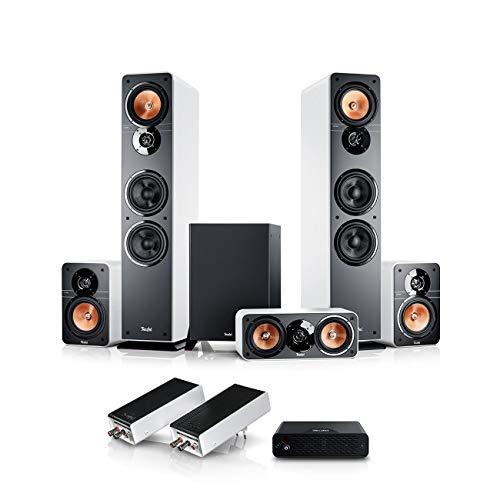 Teufel Ultima 40 Surround Wireless 5.1-Set Weiß Heimkino-Set Subwoofer Surround-Sound