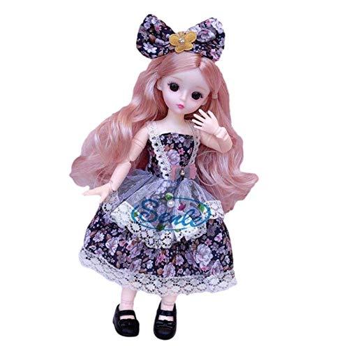 Princesa De La Muñeca 3D Muñeca De Cuento De Hadas Muñeca 3D Real Eye Doll Con Articulaciones Móviles Muñeca Rapunzel Fashion Juguete De Bricolaje Duradero Seguro Regalo De Cumpleaños De Navidad Para