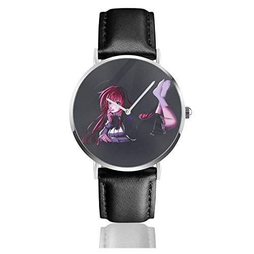 Devil High School D Times; D Casual Watches Bracelet en Cuir Montre Ultra Mince