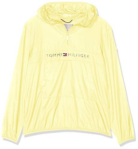 TOMMY HILFIGER Unisex Pop-Over Jacket Chaqueta, Amarillo (Lemonade 722), 152 (Talla del Fabricante: 12) para Niños