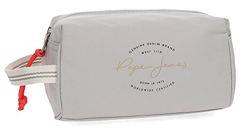 Pepe Jeans Yoga Adaptable Beauty Case Grey 19x11,5x10 cms Polyester