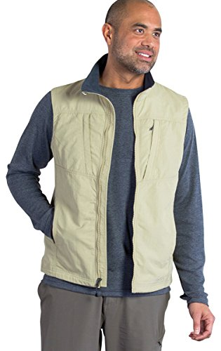 ExOfficio Men's FlyQ Lite Vest, Light Khaki, Large