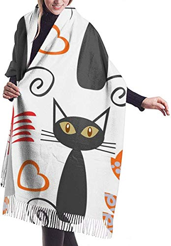 Shawl Wrap, Adorable Retro Cats Seamless PatternIt Is...