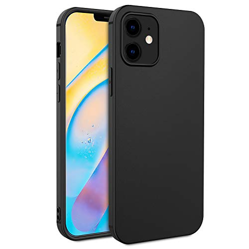EasyAcc Custodia Compatibile con iPhone 12 5.4 2020, Morbido TPU Cover Slim Anti Scivolo Protezione Posteriore Case Antiurto E' Adatto Compatibile con iPhone 12 5.4- Nero