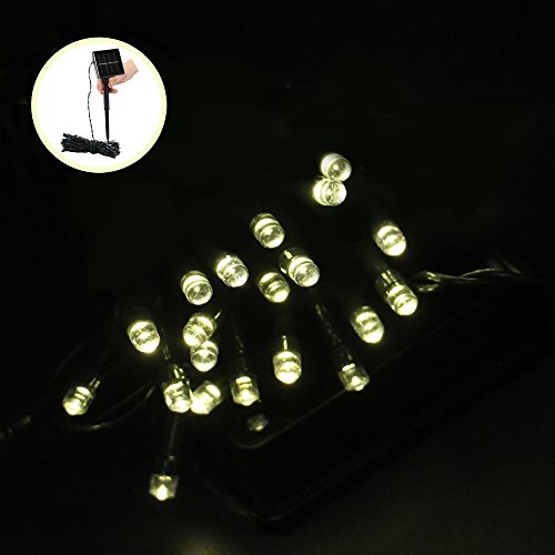 Denknova 2M 20 LED luci stringa solare, Fata Luce decorativa, impermeabile, Bianca Calda