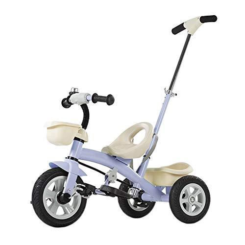 WENJIE Bebé niños de la Bici Triciclo Multifuncional Bicicleta Bicicleta del niño 3 1 bebé Regalo for Las Fiestas de cumpleaños al Aire Libre Triciclo 51 X75x105cm