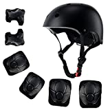 Anharluka Kids Sport Protective Gear, Helmet and Pads of Wrist, Elbow, Knee, for Bike Skateboard Skate Scooter