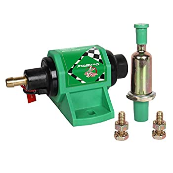 CarBole 12D Micro Electric Diesel Fuel Pump Universal 5/16 inch Inlet and Outlet 12V 1-2A 35GPH 4-7 PSI Operating Fuel Pressure 2-wire Design