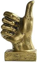 家族の装飾クリエイティブな手の彫刻の装飾、樹脂の指像の彫刻ホーム&オフィスデスクの装飾OKサイン、H