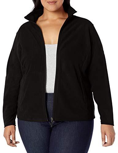 Amazon Essentials Plus Size Full-Zip Polar fleece-outerwear-jackets, schwarz, 1X