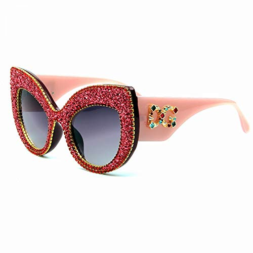 iceBoo Occhiali da Sole Cat Eye da Donna Occhiali da Sole con Strass retrò Oversize