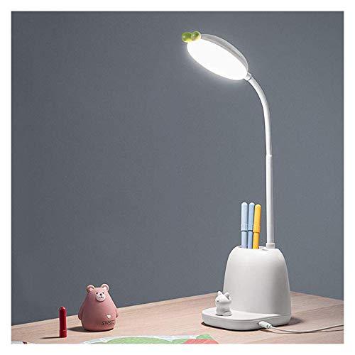 MQJ Lámpara de Mesa Plug-In Lámpara de Escritorio de Atenuación de Montaje, Luz de Escritorio Led con 3 Modos de Iluminación, Lámpara de Escritorio de Lectura de Llaves de Gato para Oficina para el H
