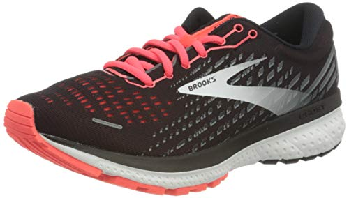 Brooks Women's Ghost 13 Running Shoe - Black/Ebony/Coral -...