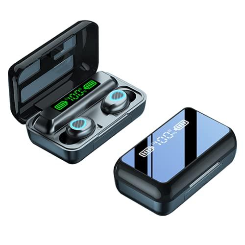 XIUNIA R15 Auriculares inalámbricos Bluetooth 5.1, auriculares Bluetooth 5.1 con caja de carga, auriculares manos libres con micrófono, control táctil, auriculares estéreo Tws impermeables