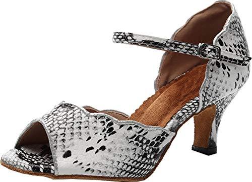 Zapatos de baile modernos de tacón medio para mujer, estilo latino Rumba...