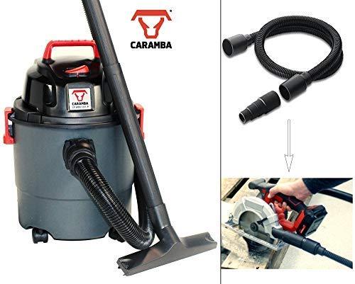 CARAMBA Nass Trocken Sauger VTOOL 5.0 - Handlicher Universal Staubsauger mit Absaugschlauch für Elektrowerkzeuge (1100 Watt)