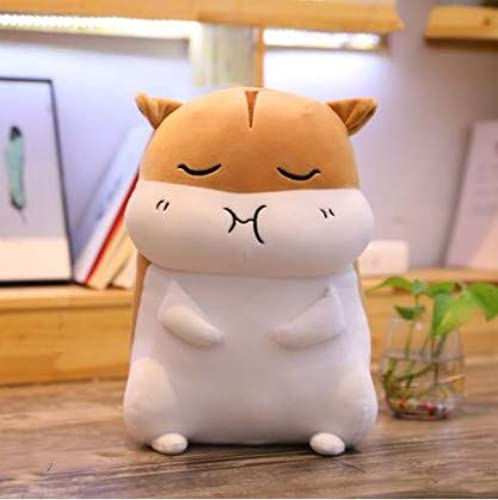 XXCKA Oreiller Bcourir Gourhommed Hamster Poupée en Peluche Jouet Lit Poupée Poupée Anniversaire Cadeau 60Cm